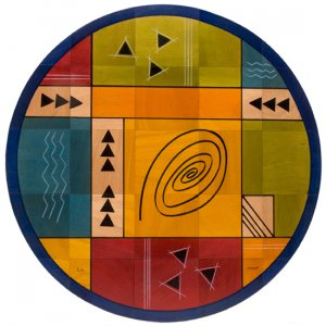 Round Floor Mat Modernini by Kakadu Art