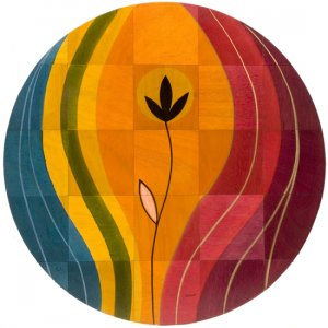 Round Floor Mat Sunset by Kakadu Art