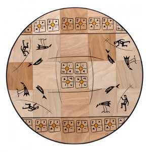 Round Floor Mat Teva by Kakadu Art
