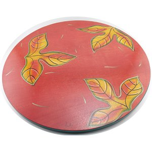 Lazy Susan Red Leaves by Kakadu Art