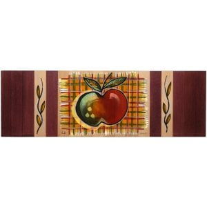 Kakadu Art Hand Painted Wood Table Runner - Apple Design