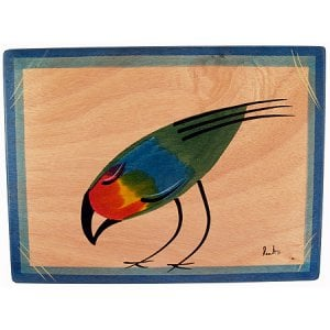 Wood Placemat - Feefa Bird by Kakadu Art