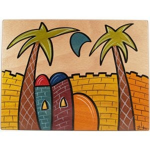 Rectangular Placemat Jerusalem by Kakadu Art