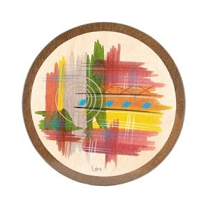 Round Placemat Abstract by Kakadu Art