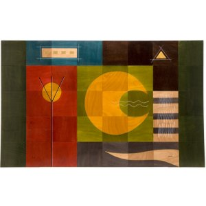 Floor Mat Yellow Moon by Kakadu Art