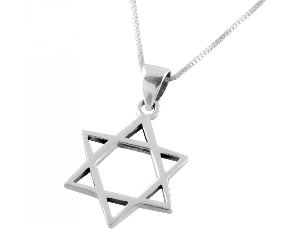 Ajdesign classic sterling silver star of david pendant with chain ajdesign classic sterling silver star of david pendant with chain aloadofball Images