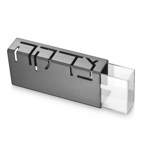 Adi Sidler Contemporary Anodized Aluminum Charity Tzedakah Box - Gray