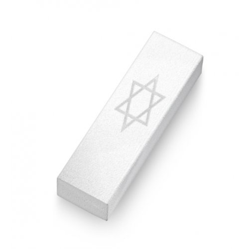 Adi Sidler Star Of David Aluminum Car Mezuzah - White