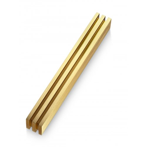 Adi Sidler Vertical Laser Cut Channels Mezuzah Case - Gold