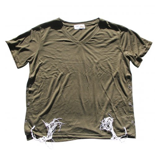Adult Khaki T-Shirt with Tzitzit
