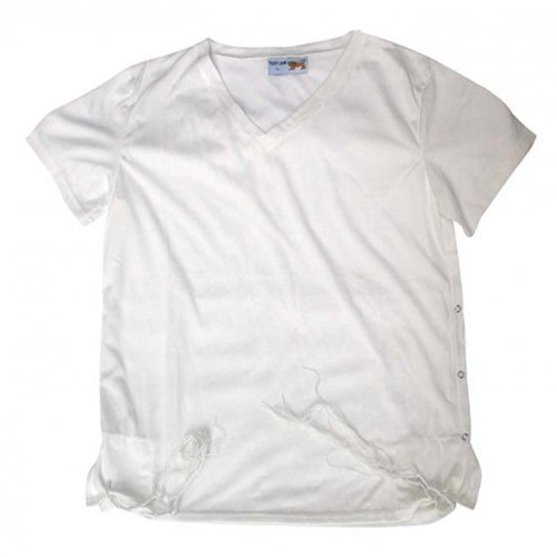 Adult White T-Shirt with Tzitzit