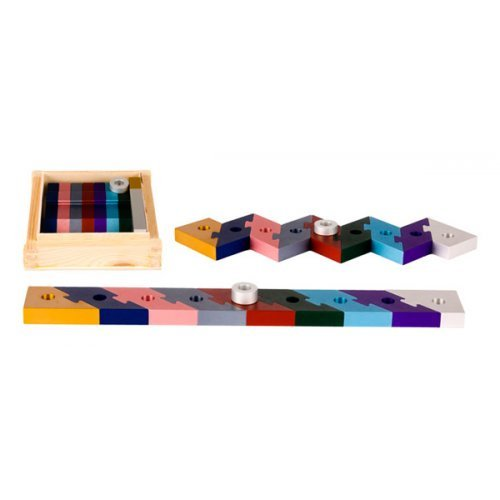 Agayof Compact Assemble Yourself Menorah, Puzzle Design - Colorful