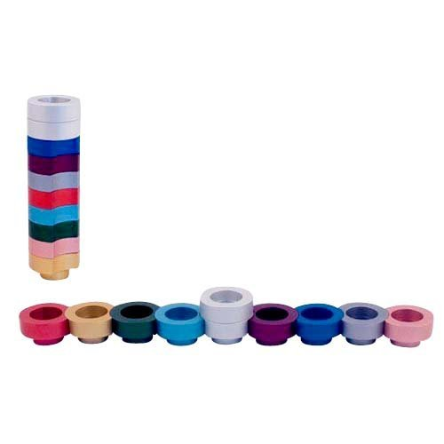 Agayof Compact Doughnut Travelling Menorah - Choice of Colors