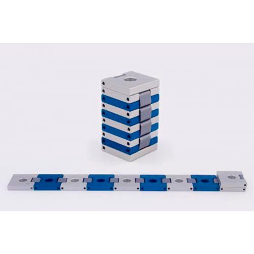Agayof Compact Travelling Menorah, Belt Shape - Shades of Blue