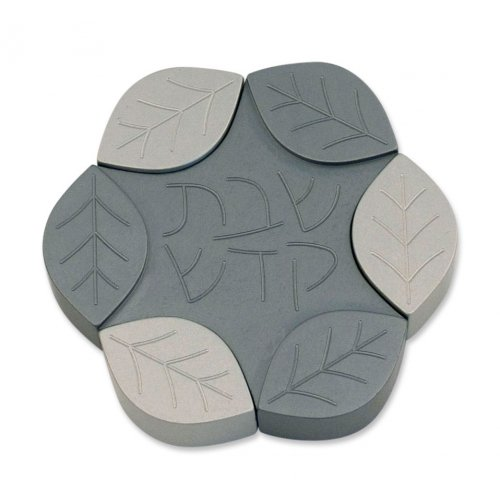 Agayof The Leaves Series Aluminum Travelling Candle Holders - Gray