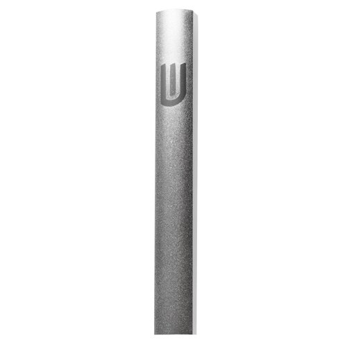 Aluminum Mezuzah Case - Gray Textured Design