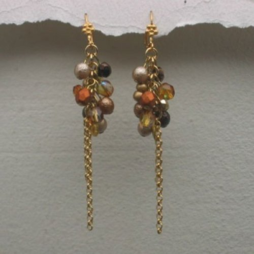 Autumn Shades Cluster Earrings by Edita