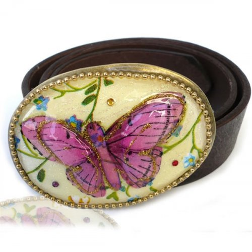 Belt with Butterfly Buckle