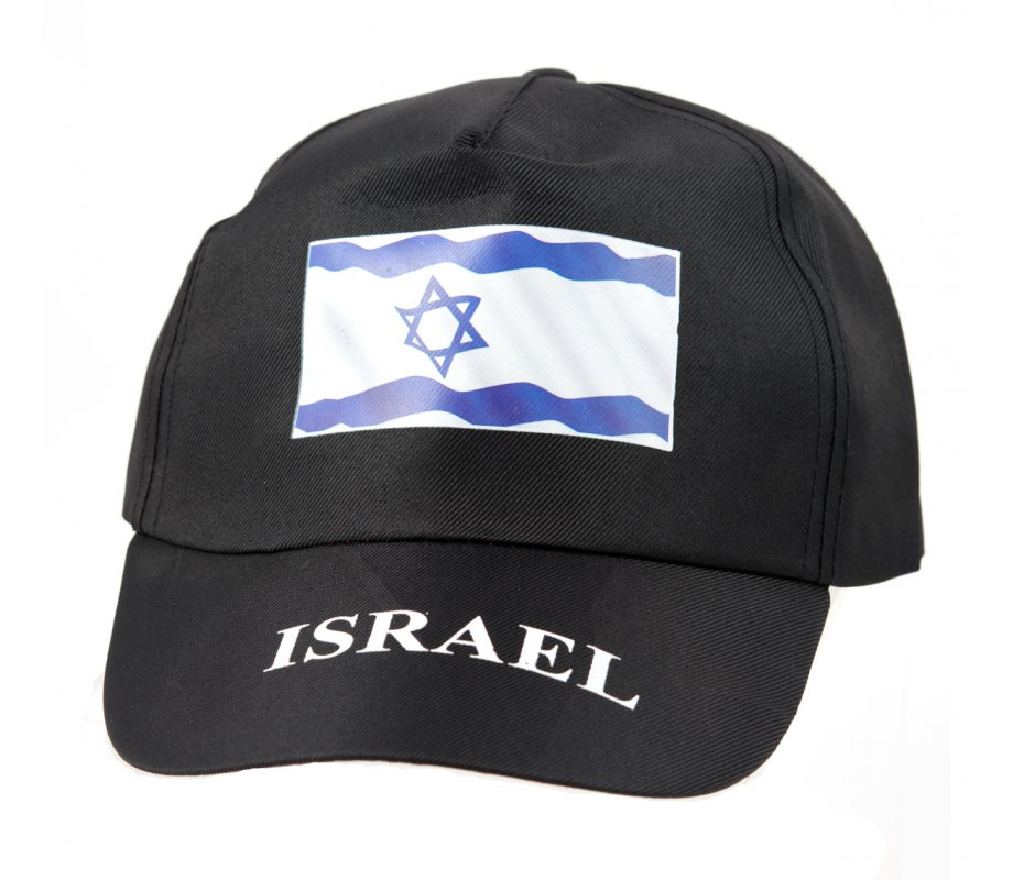 ca1d46b02 Black Baseball Cap with Israeli Flag Decoration