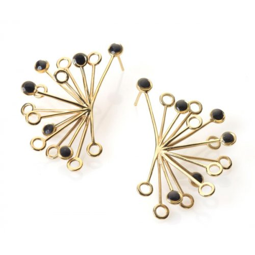 Black Senecio Earrings