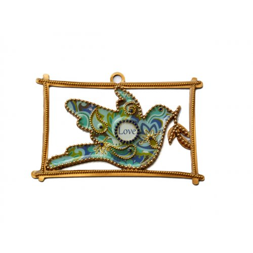 Blue Dove of Peace Wall Hanging by Iris
