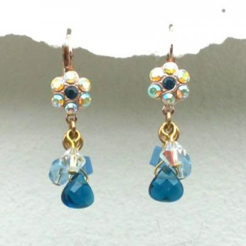 Blue Raindrop Cluster Earrings by Edita