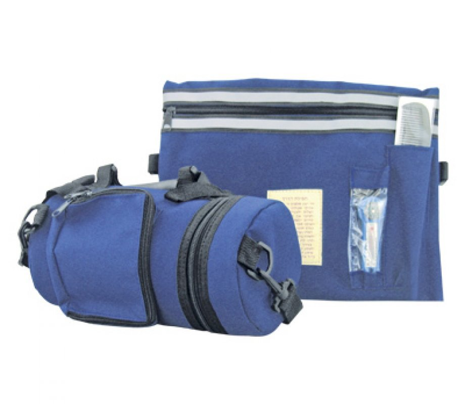 Blue Tefillin Carrier With Tallit Bag Waterproof Thermal