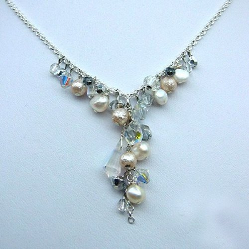 Bridal Blue Necklace by Edita