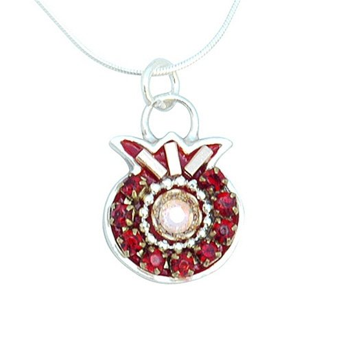 Burgundy Pomegranate Necklace by Ester Shahaf