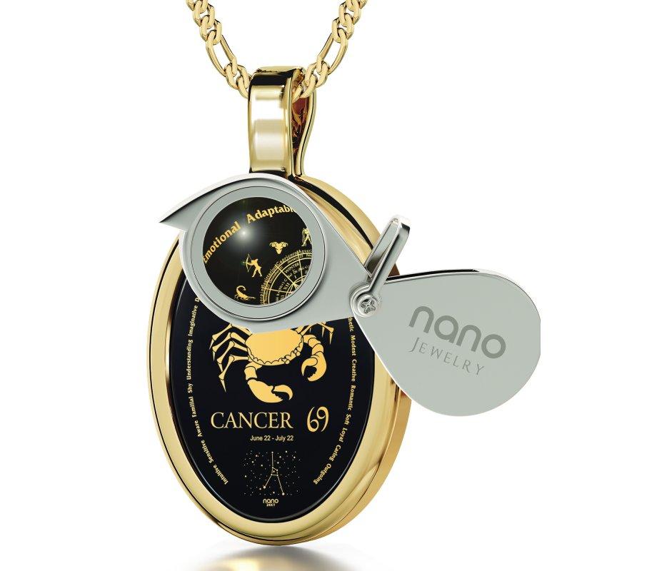 Cancer zodiac pendant by nano jewelry ajudaica cancer zodiac pendant by nano jewelry aloadofball Gallery