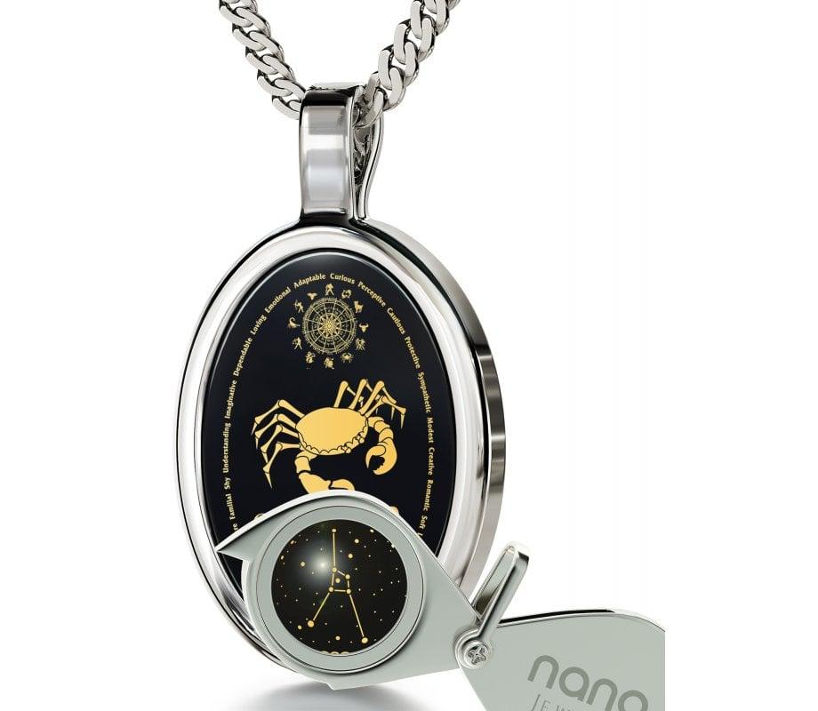 Cancer zodiac pendant by nano jewelry ajudaica cancer zodiac pendant by nano jewelry aloadofball Choice Image