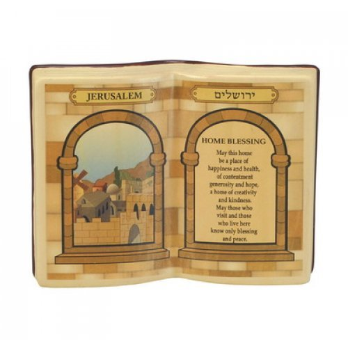 Ceramic Book Style English Home Blessing
