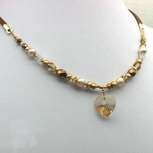 Champagne Heart Necklace by Edita