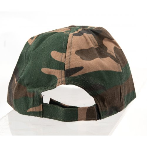 Child Size Camouflage Baseball Cap with I.D.F. Israel Defense Forces Decoration