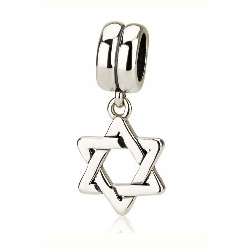 Classic Dangling Silver Star of David Charm