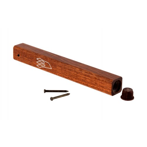 Classic Dark Brown Wood Mezuzah