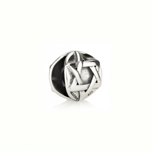 Classic Round Silver Star of David Charm