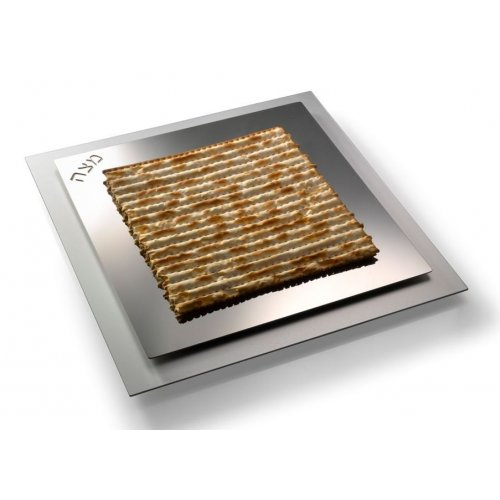 Classic Stainless Steel Matzah Tray by Laura Cowan