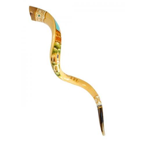 Collectors hand painted yemenite shofar jerusalem for Salon yemenite