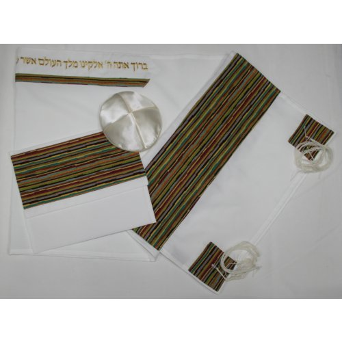 Colorful Design Tallit Set By Ronit Gur