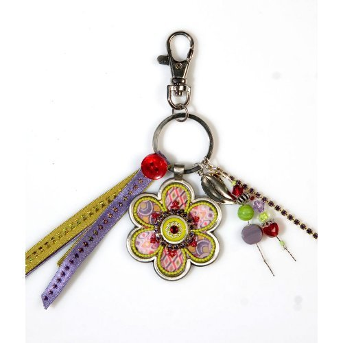 Colorful Flower Keychain by Ester Shahaf