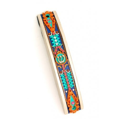 Curved Pewter Mezuzah Case by Ester Shahaf