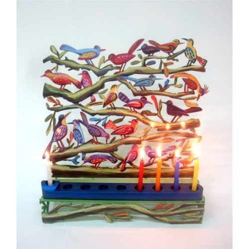 David Gerstein Birds Hanukkah Menorah