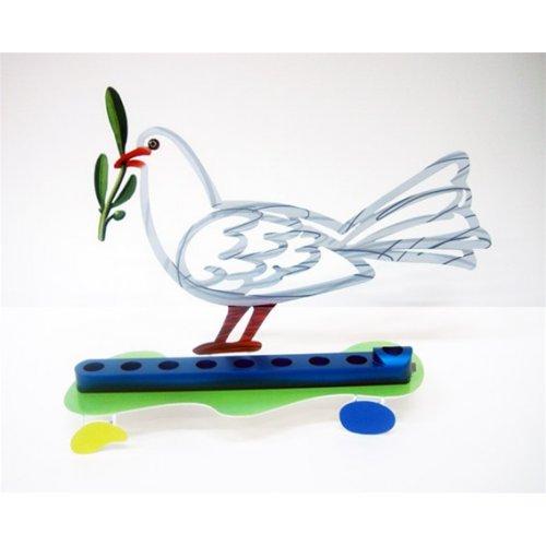 David Gerstein Dove of Peace Hanukkah Menorah