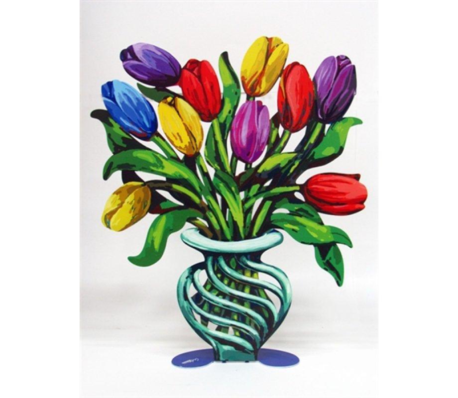 David Gerstein Free Standing Double Sided Flower Vase Sculpture