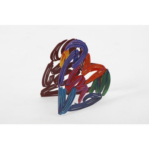 David Gerstein Free Standing Double Sided Heart Sculpture - Strokes of Love