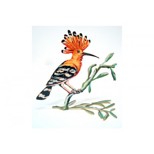 David Gerstein Free Standing Double Sided Steel Sculpture - Hoopoe Bird