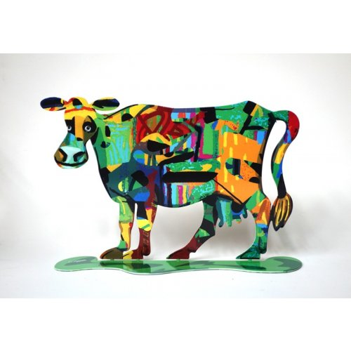David Gerstein Free Standing Double Sided Steel Sculpture - Medina Cow