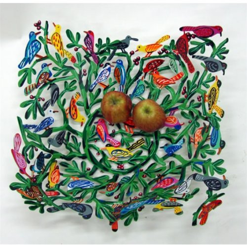 David Gerstein Laser Cut Fruit Bowl or Wall Decoration - Birds of the World