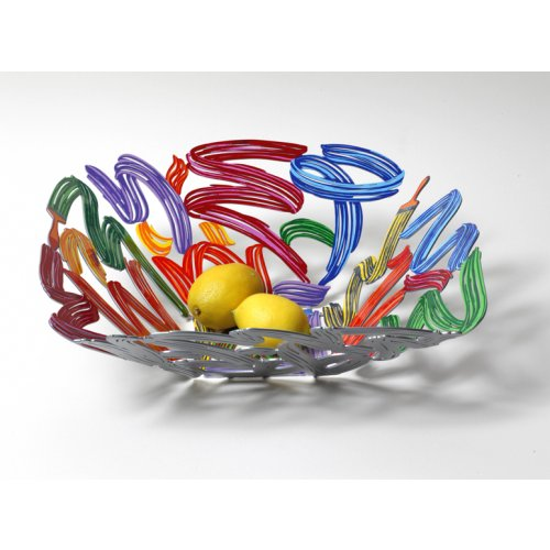 David Gerstein Laser Cut Fruit Bowl or Wall Decoration - Brush Strokes